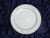 Ceramic printing custom dinnerware, Silver Rim Wedding Plate