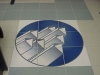 Ceramic printing custom tile, Blue Floor Mural